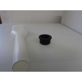 Afvoer verdubbelingsmof incl rubberen dop